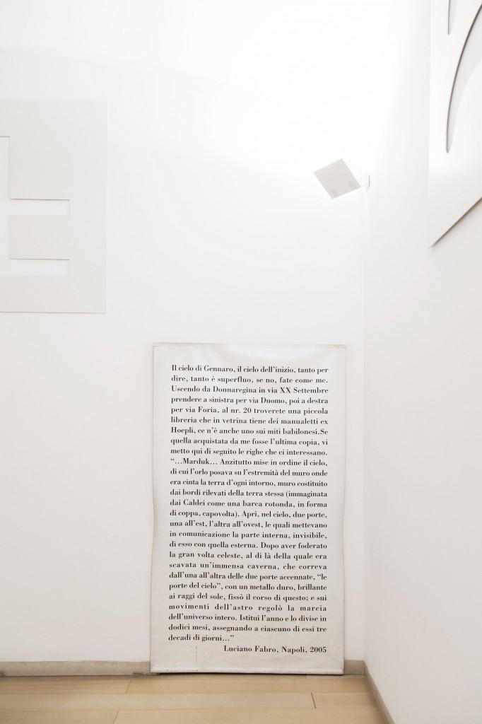 Luciano Fabro, Il cielo di San Gennaro, 2005. Courtesy Fondazione Donnaregina per le arti contemporanee, Napoli. Foto © Amedeo Benestante.