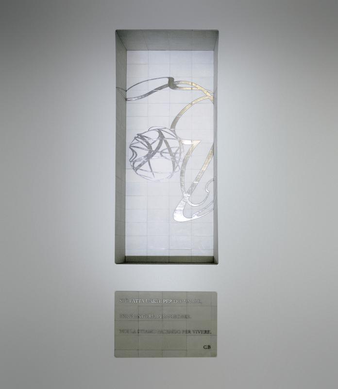 Domenico Bianchi, Senza Titolo, 2005. Foto © Amedeo Benestante.
