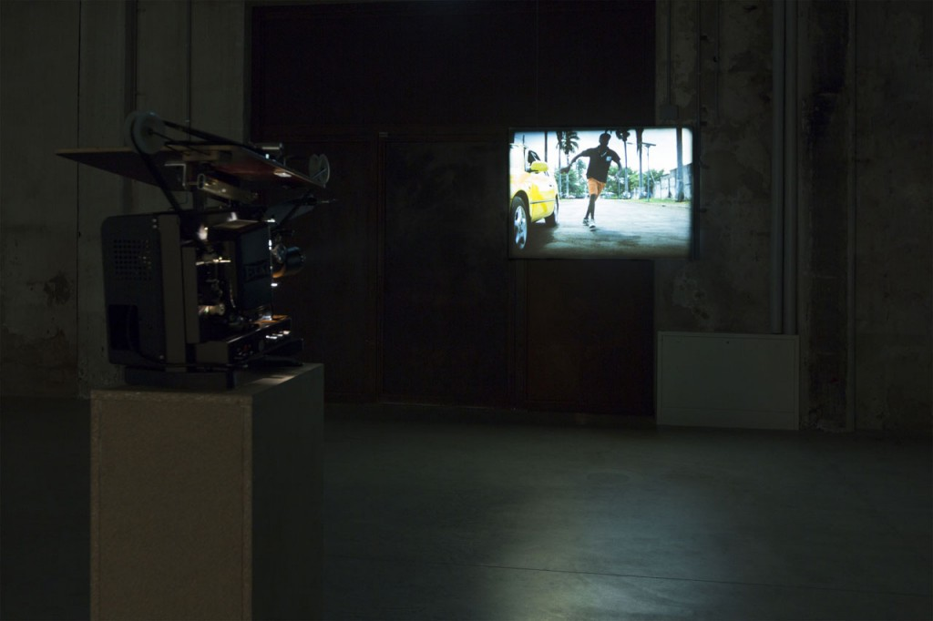 João Maria Gusmão & Pedro Paiva, Papagaio, Installation views Fondazione Hangar Bicocca, Milano 2014.