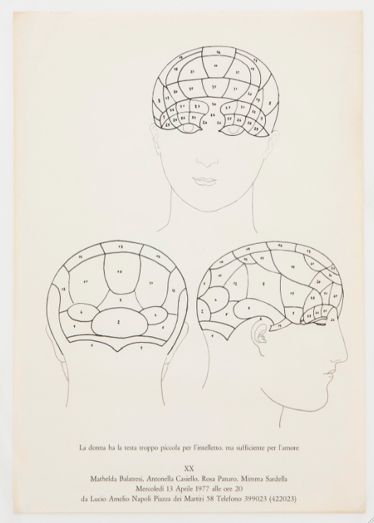 Gruppo XX, Manifesto della mostra, 1977. Courtesy Rosa Panaro, Napoli. In comodato a Madre · museo d'arte contemporanea Donnaregina, Napoli. Foto © Amedeo Benestante.