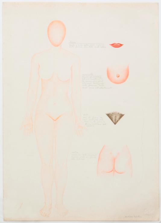 Gruppo XX, Ciò che attrae l'uomo, 1977. Courtesy Mathelda Balatresi, Napoli. In comodato a Madre · museo d'arte contemporanea Donnaregina, Napoli. Foto © Amedeo Benestante.
