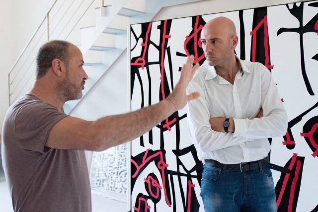 Valerio Falcone con Sergio Fermariello.