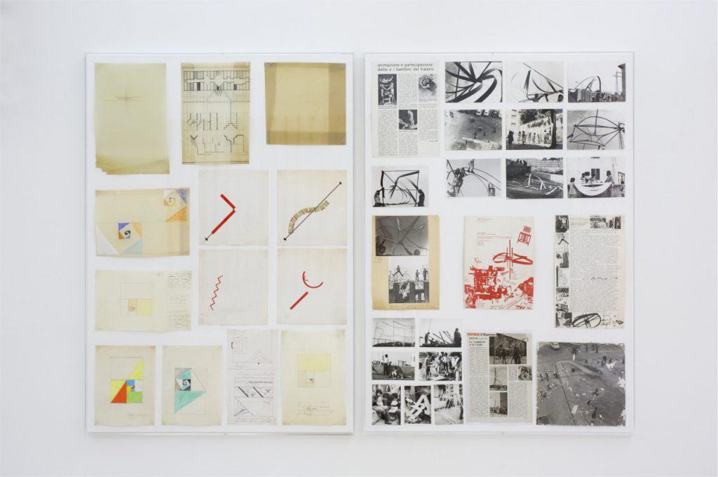Riccardo Dalisi, Geometria Generativa, '60-'70; Opuscoli e Collage, '70; Animazione Traiano, 1971-75. Courtesy l'artista. In comodato a Madre · museo d'arte contemporanea Donnaregina, Napoli. Foto © Amedeo Benestante.
