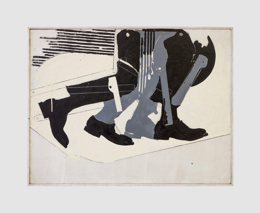 Mario Schifano, Alla Balla, 1963. Collezione Dina Carola, Napoli. In comodato a Madre · museo d'arte contemporanea Donnaregina, Napoli. Foto © Amedeo Benestante. In esposizione fino a settembre 2016.