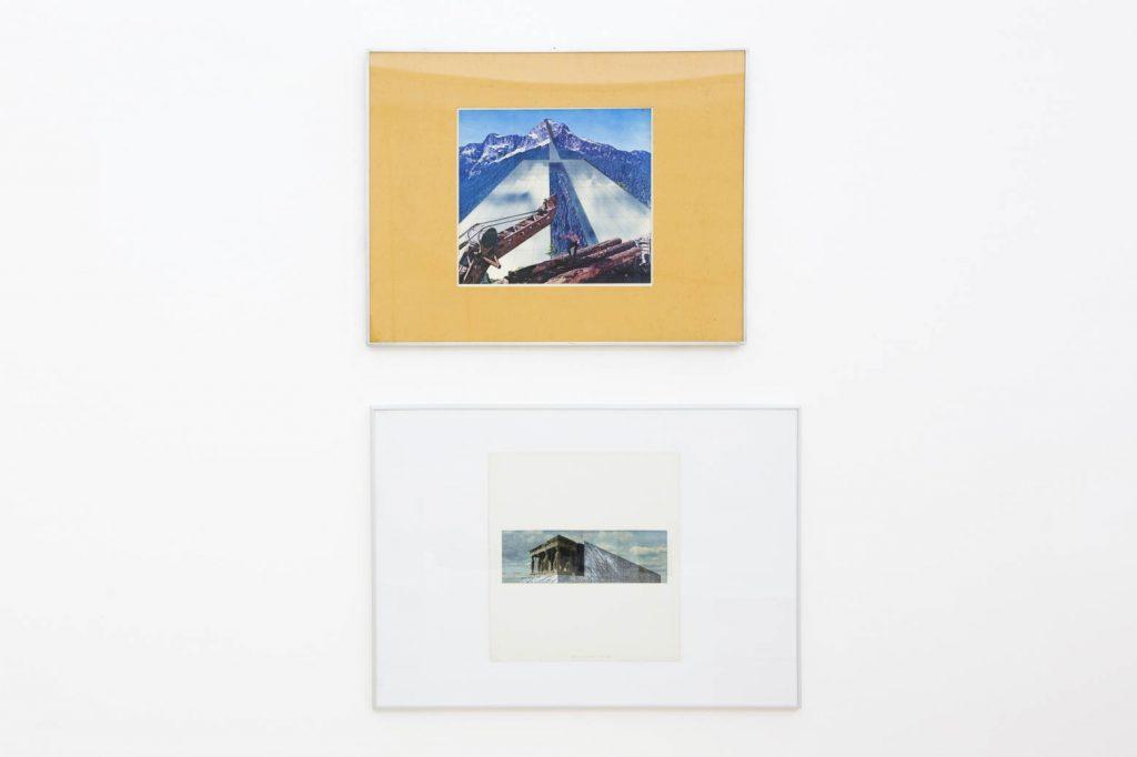 Superstudio, Monumento Continuo (Loggia delle Cariatidi), 1969-1970; Architettura riflessa con taglialegna, 1969-1971. Collezione Enea Righi, Bologna. In comodato a Madre · museo d'arte contemporanea Donnaregina, Napoli. Foto © Amedeo Benestante.