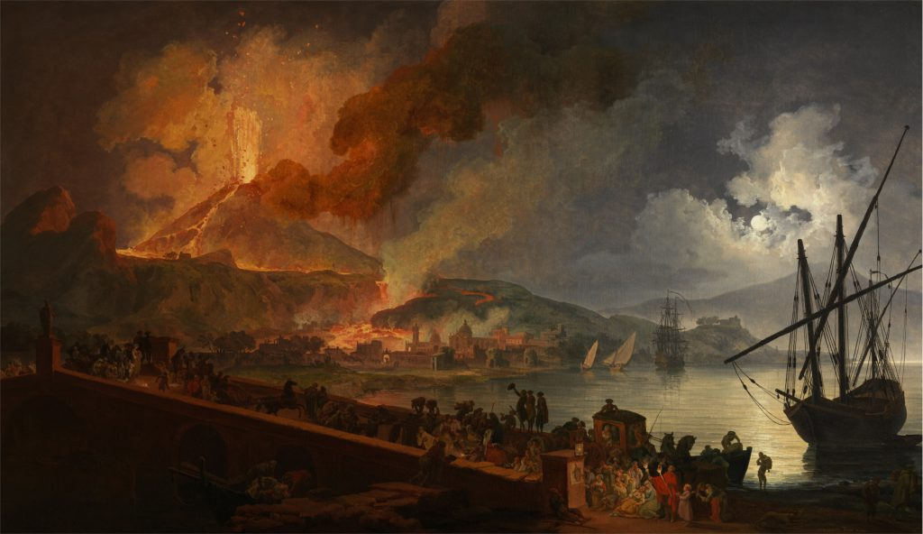 Pierre-Jacques Volaire, Eruzione del Vesuvio dal Ponte della Maddalena, 1782. Courtesy Museo e Real Bosco di Capodimonte, Napoli. Foto © Luciano Romano.