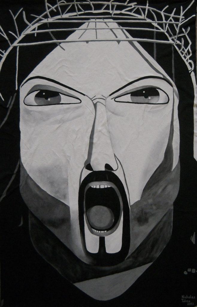 Nicholas Tolosa, L'urlo della pace, 2013. Courtesy l'artista.